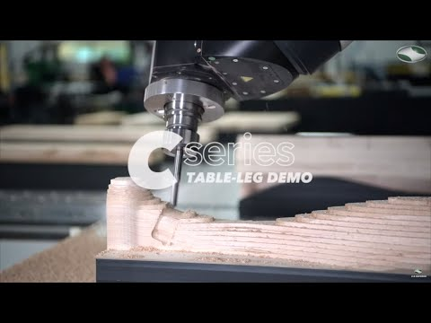 Machining a Wooden Table Leg | C-Series 5-Axis by C.R. Onsrud