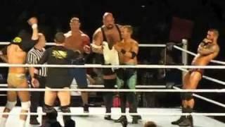 WWE Raw & Smackdown Tour Part 1 (funny) YAKIMA, WA Sundome 5-21-2011 8 man Tag Team Match