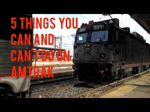 5 Things on Amtrak you Can and Can't Do