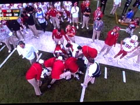 Hardest College Football Hit Ever? 12/1/2012 Nebraska vs. Wisconsin