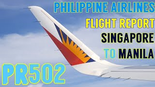 PHILIPPINE AIRLINES FLIGHT REVIEW | A321 ECONOMY CLASS | SINGAPORE TO MANILA | PR502