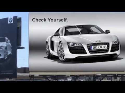Audi Vs BMW Billboard Wars YouTube - Audi vs bmw