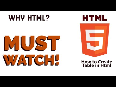 HTML Tutorial 2020 : Table In Html