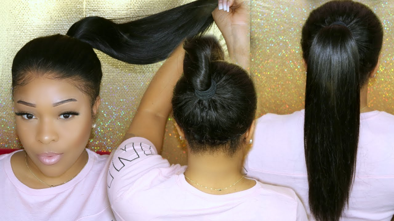 Back Of Lace Wig Install | Glueless Ponytail