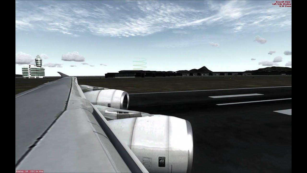 Fsx A380 Cat 3 ILS landing - YouTube
