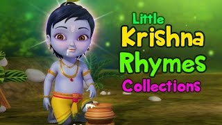 Repeat youtube video Lord Krishna Rhymes Collection | Telugu Rhymes for Children | Infobells