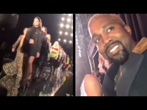 Kanye West Steals Expensive Earring Model Dropped at Versace Fashion Show 😂 Mp3
