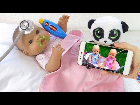Как МАМА и Бьянка Лечились от Простуды Мультик для детей Игрушки для девочек Куклы Пупсики