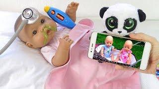 Як МАМА і Б'янка Лікувалися від Застуди Мультик для дітей Іграшки для дівчаток Ляльки Пупсики
