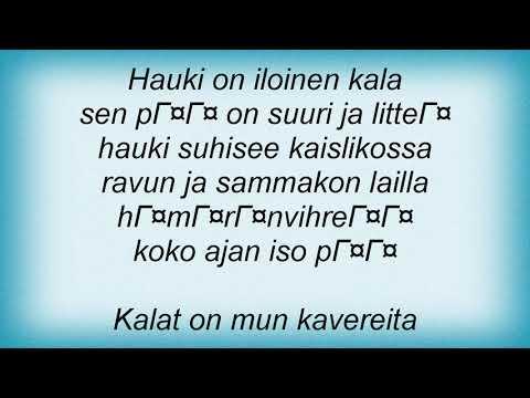 Ultra Bra - Hauki Lyrics