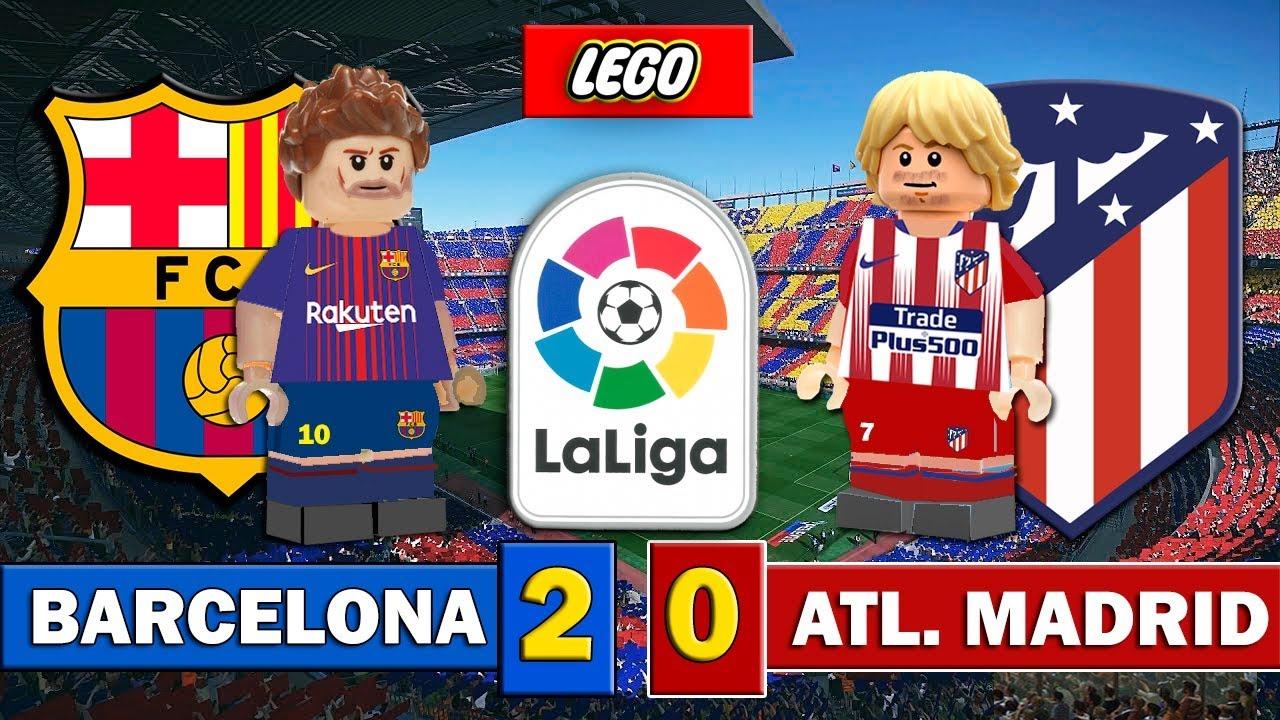 Barcelona 2 0 Atlético Madrid Laliga Fútbol Lego