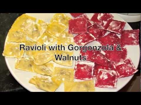 Beetroot Ravioli with Gorgonzola & Walnuts