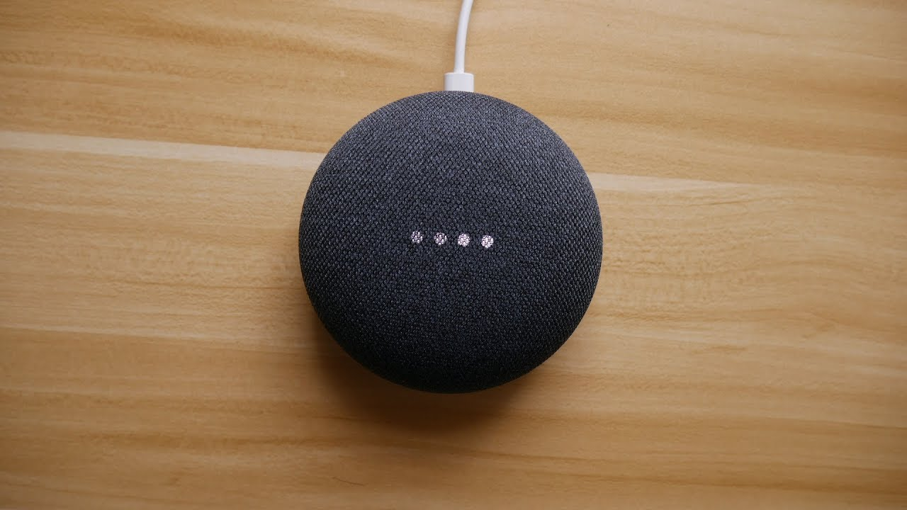 Google home mini charcoal unboxing youtube for Google home mini