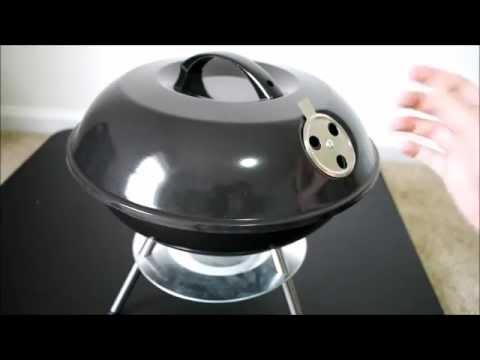 """Flamen 14"""" Portable Charcoal BBQ Grill"""