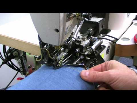 Global US models. Sewing machines for the jeans production industry