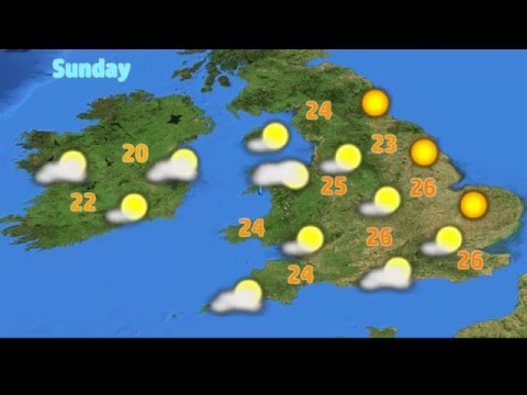 UK & Ireland Weather Forecast for May 6-8, 2016 - Warm Spell