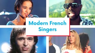 Modern French singers 🎙️