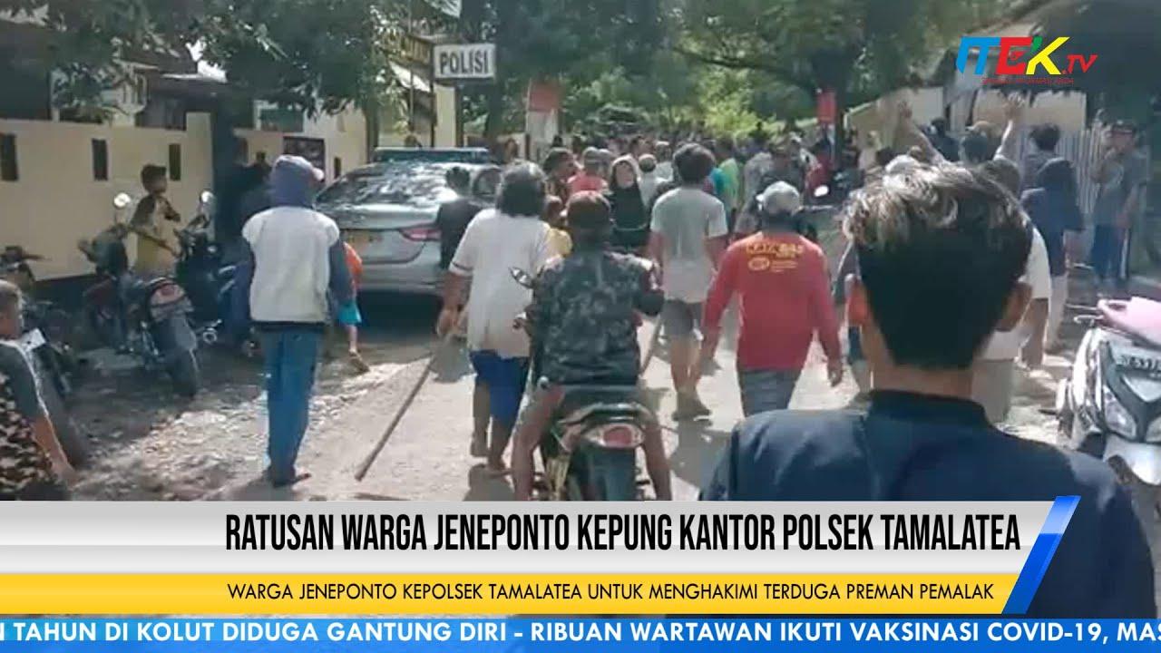 Ratusan Warga Jeneponto Kepung Kantor Polsek Tamalatea