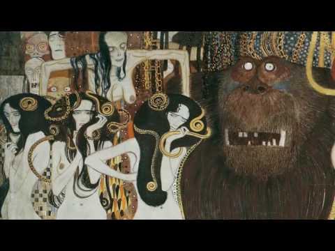 "Gustav Klimt'in ""Beethoven Frizi"" İsimli Tablosu (Beethoven Frieze)"
