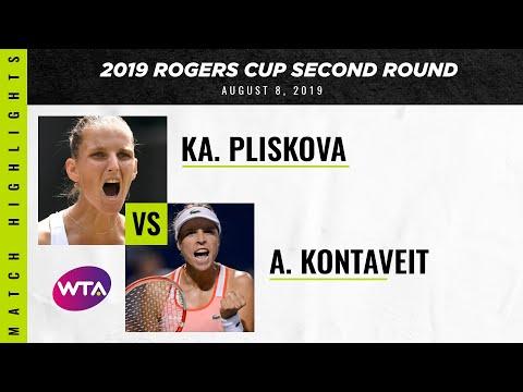Karolina Pliskova vs. Anett Kontaveit   2019 Rogers Cup Second Round   WTA Highlights