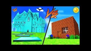 Mango Tango Minecraft - DIAMOND HOUSE VS DIRT HOUSE