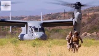 Marines and Sailors Casualty Evacuation via MV-22