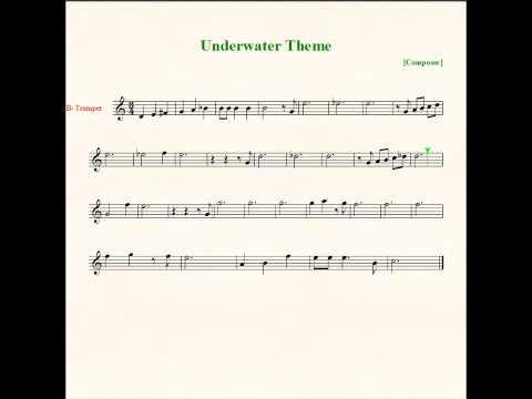 Underwater Theme Sheet Music - Trumpet