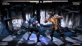 Mortal Kombat X - Scorpion vs Sub-Zero Gameplay (PC) - 1080p GeForce GT 650M