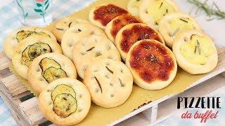 PIZZETTE DA BUFFET SOFFICI FATTE IN CASA  | MILLE GUSTI Ricetta facile | buffet pizza