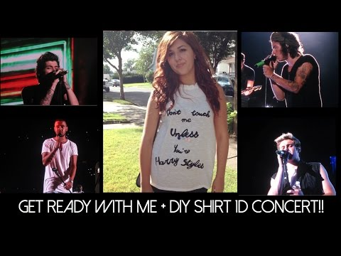 DIY One Direction Shirt + Get Ready With Me For The 1D Concert!