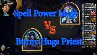 Burny Hugs Priest vs Spell Power Mage | Hearthstone