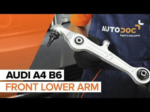 How to replace front lower arm on AUDI A4 B6 TUTORIAL | AUTODOC