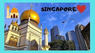 SINGAPORE, the magnificent SULTAN MOSQUE, great exclusive inside views