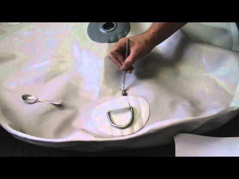 How to repair punctures in PVC inflatable boat, raft or kayak.