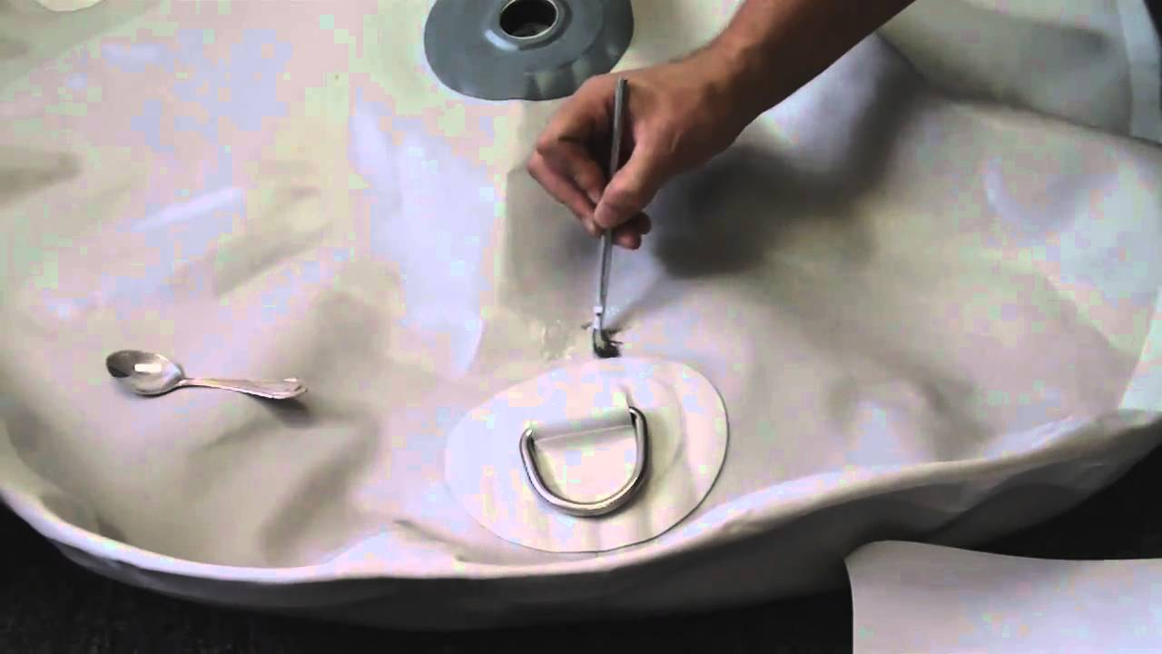 How to repair punctures in PVC inflatable boat raft or