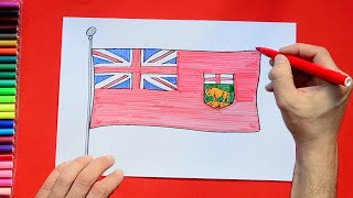 How to draw and color the Flag of Manitoba, Canada