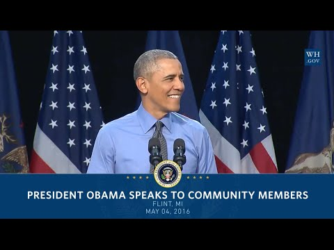Obama In Flint Michigan   Full Speech