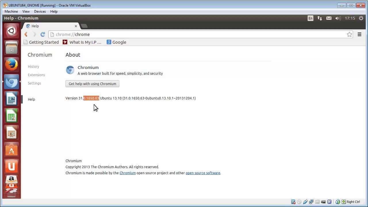 Check Chromium browser version » Ricmedia PC Help