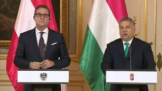 Pressestatement nach Treffen von Premier Orban und Vizekanzler Strache