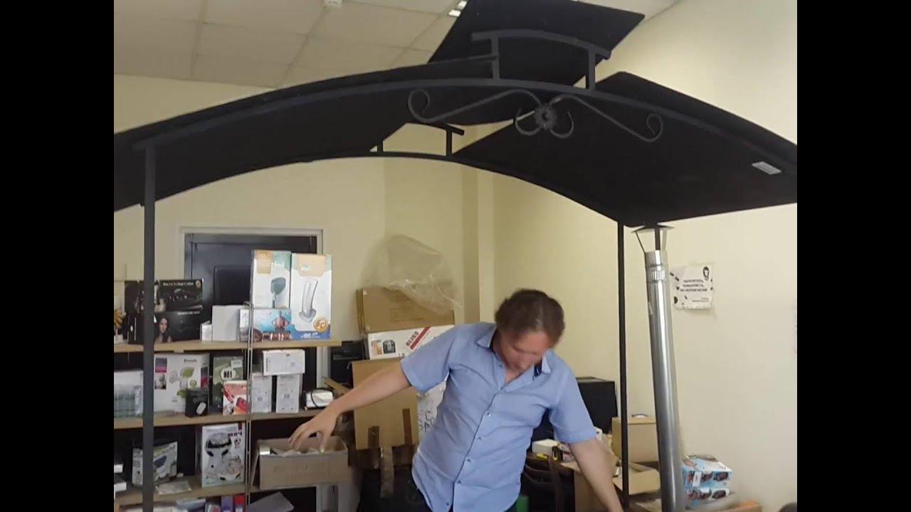 Крыша из профнастила на гараж, своими руками. Часть 3 финал. - YouTube
