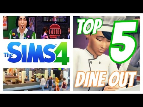 Sims 4 | Dine Out - TOP 5 NEW ITEMS!