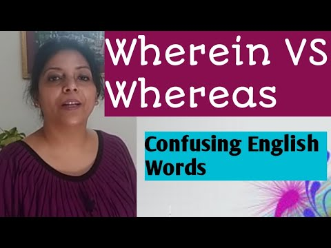 Confusing English words/ Wherein VS Whereas/ fix your common vocabulary mistakes