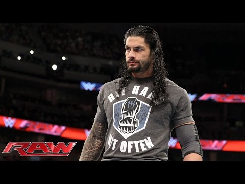 Roman Reigns Ist Bereit Für Ein Survivor Series Elimination Match: Raw – 2. November 2015