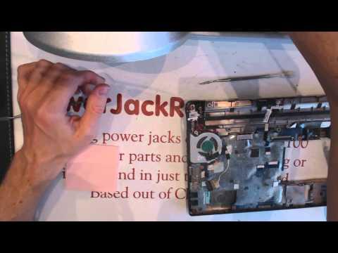 how to repair toshiba nb505 loose laptop power jack socket input port connector dc input