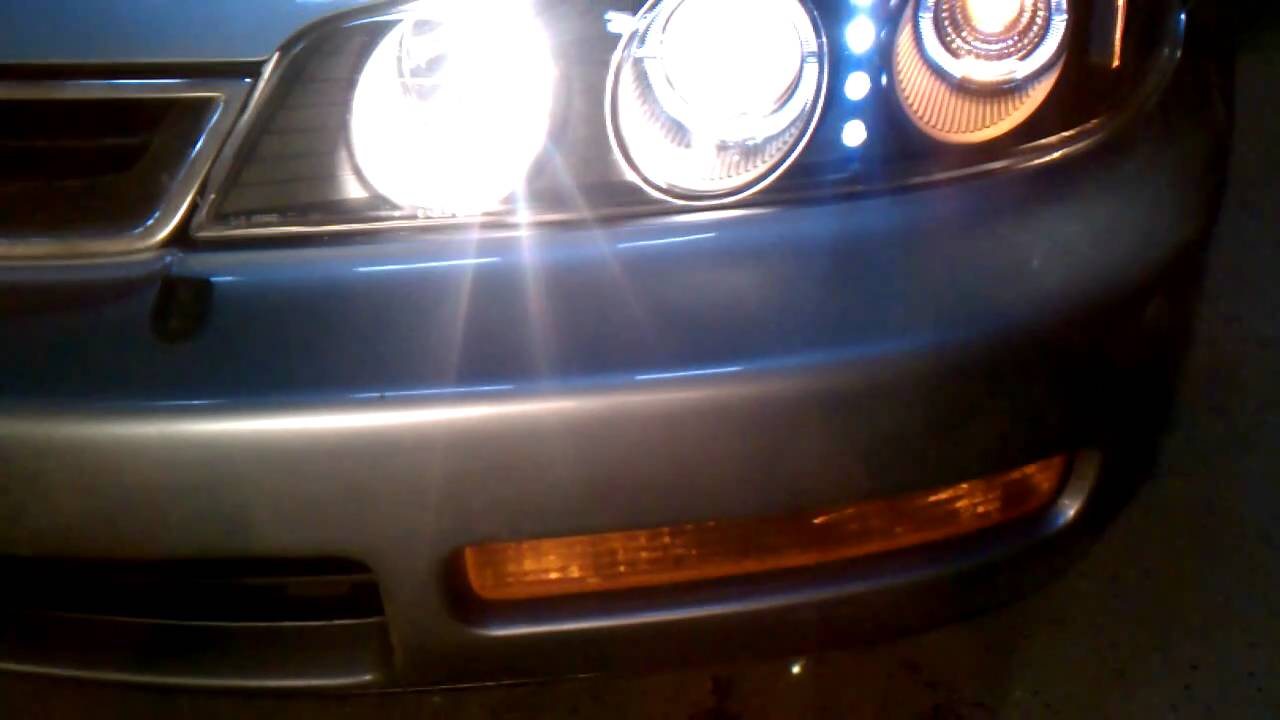 After Headlight Install On 1996 Honda Accord Youtube