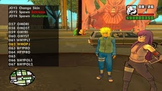 GTA SA EVOLUTION DOWNLOAD PACK SKINS PERSONAGENS NARUTO 2°PARTE BU OLIVEIRA FULL HD 1080p