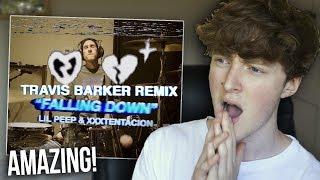 BETTER THAN THE ORIGINAL?   Lil Peep & XXXTENTACION - Falling Down (Travis Barker Remix) REACTION!