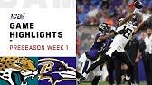 Jaguars vs. Ravens Preseason Week 1 HighlightsNFL 2019