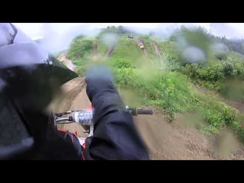 Dirt bike rain ride + stuck jeep + atv trail ride