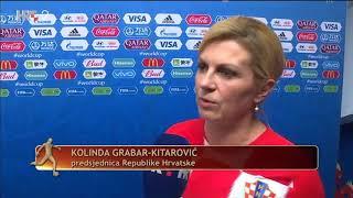 Izjava Kolinde Grabar - Kitarović | Hrvatska - Rusija | FIFA World cup Russia